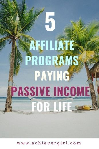 Want recurring income while enjoying life on the beach or wherever your travels take you? If financial freedom is your goal, these 5 continuity affiliate programs are an ideal way to passive income that pays for life! #achievergirl #passiveincome #affiliateprograms #affiliatemarketing #makemoney #makemoneyonline #financialfreedom #digitalnomad