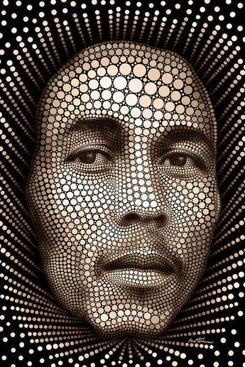 Bob Marley Art Print by Ben Heine