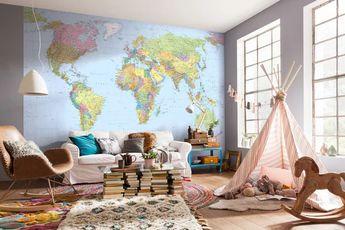 World Map | Mapa Mundi | Sala de Estar | Living Room | Espaço para Crianças | Kids Space | Decor | Decoration | Design | Home