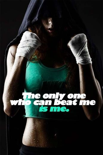 The only one who can beat me is me. #fitfluential