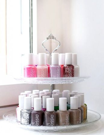A beautiful way to display your nail varnishes. Storage ideas. #NailPolishSet