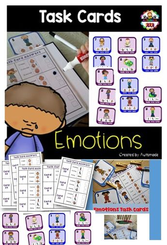 Emotions - Vocabulary (for students with Autism)