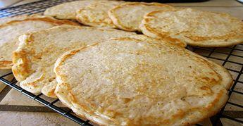 Pain plat sans gluten à base de farine de coco