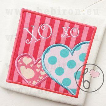 Bow Scallop Monogram Applique Design Machine Embroidery Pa
