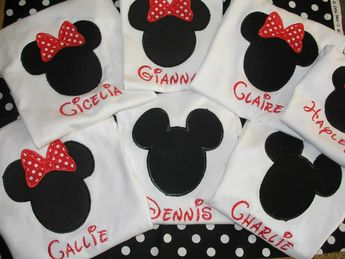 Family Set of 4 Personalized Mickey or Minnie Shirt Perfect for Disney Vacations on Etsy, $60.00