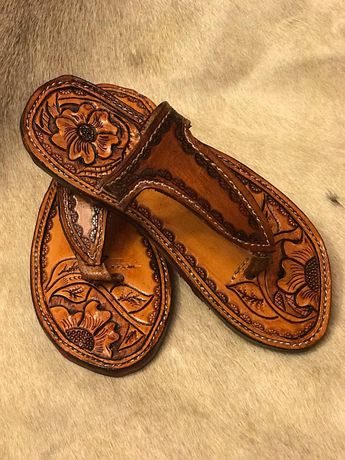 061383cf7d Custom tooled leather birkenstocks made by Trent Graves Lea