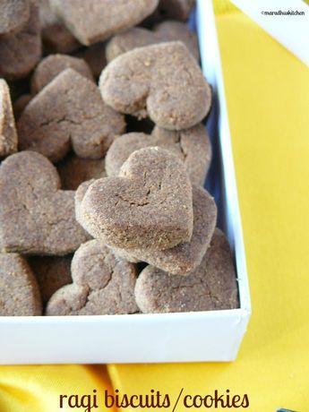 Ragi biscuits in oven /ragi flour cookies (finger millet)