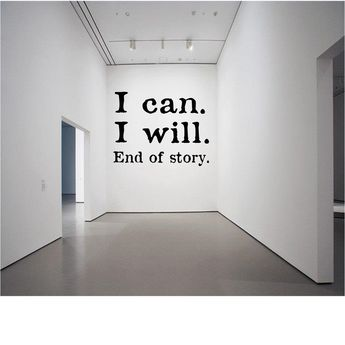 I can. I will. End of story. - Wall Decal -Workout Decal - Gym Decal - Fitness Decal - Lifting Decal