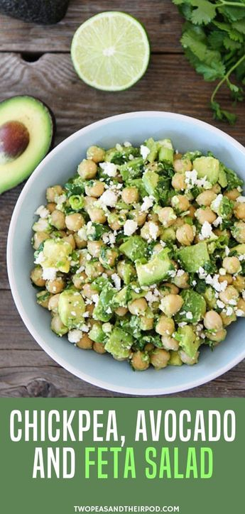 Craving for HEALTHY vegetarian recipes but your in a RUSH? Try this CHICKPEA, AVOCADO, & FETA SALAD! It is super duper EASY! Probably the easiest and tastiest SALAD I�ve ever made.You only need 5 minutes to make this healthy salad! It�s