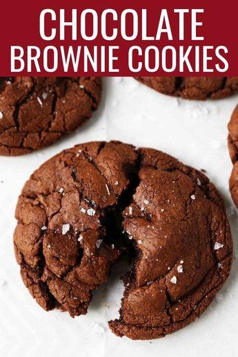 Chocolate Brownie Cookies. Rich, decadent triple chocolate cookies are so decadent. The perfect chocolate brownie cookie recipe! www.modernhoney.com #chocolatebrowniecookies #browniecookies #chocolatecookies