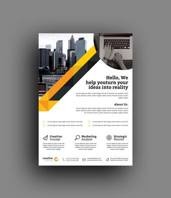 Berlin Elegant Professional Business Flyer Template - Graphic Templates