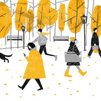 Park #art #illustration #illustrator #drawing #arts_help #autumn #freelance #character #scetch #best_of_illustrations #childrenillustration #topcreator #anaasea