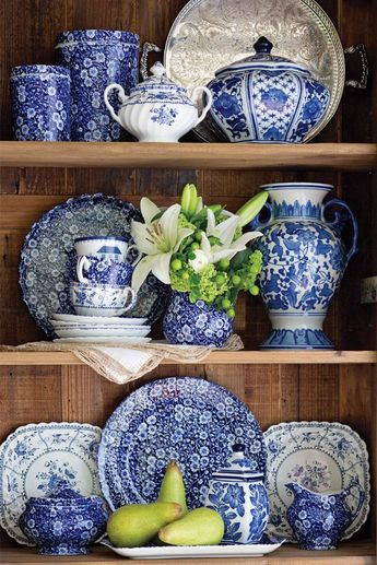 Prints Charming: Blue Calico by Burleigh