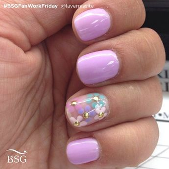 """Bio Seaweed Gel Canada on Instagram: """"On this lovely #BSGFanWorkFriday, we are featuring @lavernissite's gorgeous floral nails. Colours used are #BSGCarnation, #BSGTeaParty,…"""""""