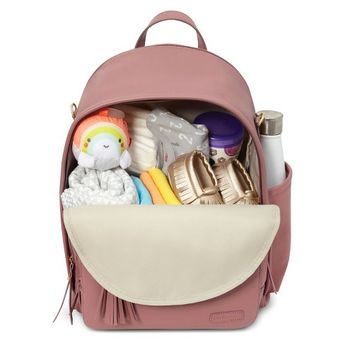 Skip Hop GREENWICH Simply Chic Diaper Backpack - Dusty Rose, Pink