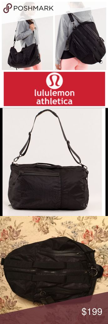 740ba0b964ca9c Lululemon Do It Up duffel in black plus zip pouch! Highly sought after, hard