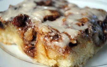 Cinnamon Roll Swirl Cake Recipe; Batter- 3 c flour, 1/4 tsp salt, 1 c sugar, 4 tsp baking powder, 1.5 c milk, 2 eggs, 2 tsp vanilla, & 1/2 c butter melted. Topping-1 c butter soft almost melted, 1 c brown sugar, 2 Tbsp flour, & 2 Tbsp cinnamon. Glaze-2 c powdered sugar, 5 Tbsp milk, & 1 tsp vanilla
