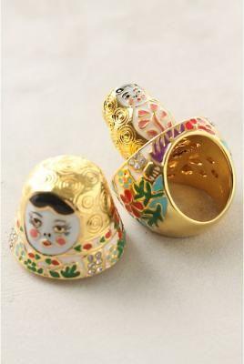 ♥ Babushka Ring  #gold #ring