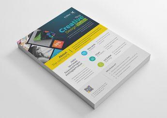 Sleek Creative Business Flyer Design Template - Graphic Templates