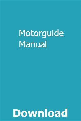 Motorguide Manual