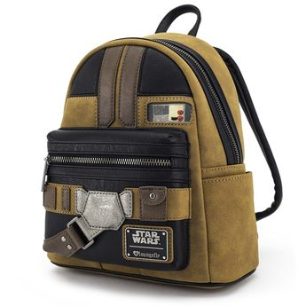 640075693f0 Loungefly x Solo  A Star Wars Story Han Solo Cosplay Mini Faux Suede  Backpack