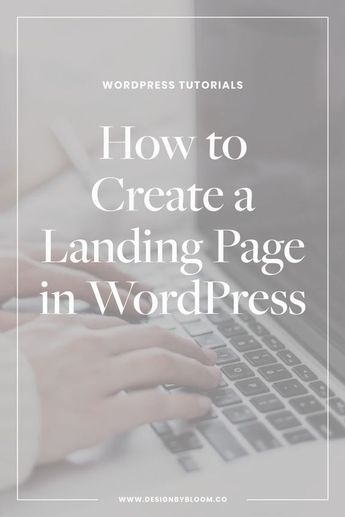 How to Create a Landing Page in WordPress - Showit Blog