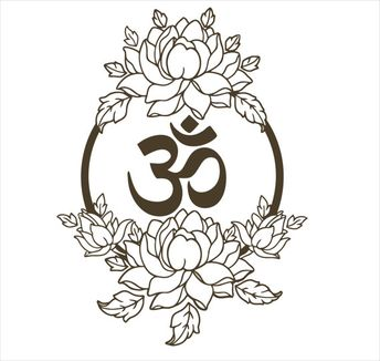 6d6ab9c0d Lotus Wall Decal Vinyl Sticker Decals Namaste Art Decor Design Om Lotus  Flower Yoga Wall Vinyl