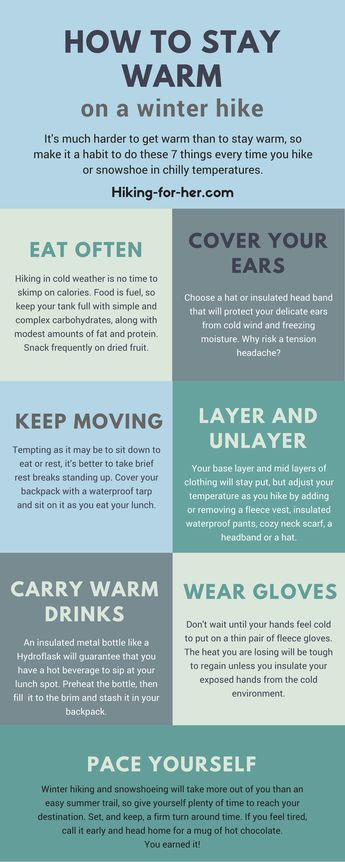Keep yourself safe in the outdoors! How to stay warm on a winter hike or snowshoe trip is easy if you use these 7 tips from Hiking For Her.