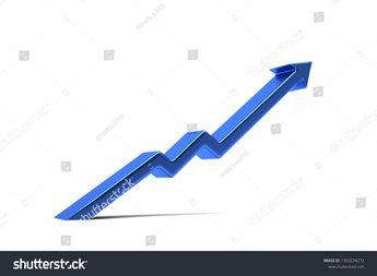 Arrow of success in business. 3D Render Illustration  #finance #business #bar #graph #chart #growth #success #financial #diagram #concept #market #money #progress #data #investment #profit #report #symbol #illustration #graphic #stock