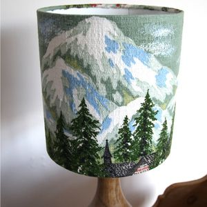 Image of Snowy Mountain Chalet Lampshade