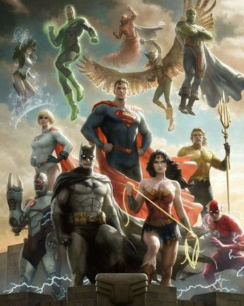 #Dessin #JusticeLeague #WonderWoman #Batman #Superman #Aquaman #Flash - Artist Paolo Rivera - Twitter : @PaoloMRivera #DcComics