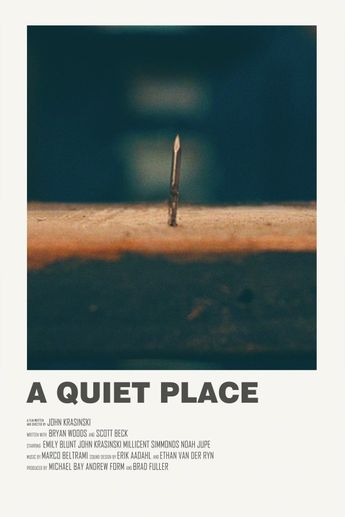 A Quiet Place alternative movie poster Visit my store
