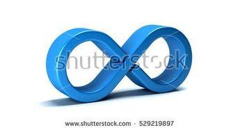 Infinity Symbol on White Background. 3D Rendering Illustration