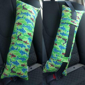 Sharks Travel pillow for Kids, Kids Sharks Seat Belt Travel Car Pillow