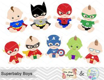 Digital Superhero Baby Boys Clipart Superhero by OneStopDigital
