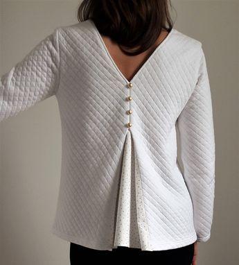 Home | Madys Avec le tissu gaufré blanc