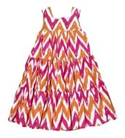 Gypsy Dress - Chevron Ikat Pink