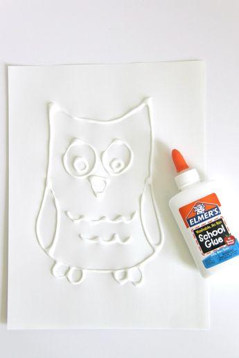 Watercolor Resist Painting Using School Glue