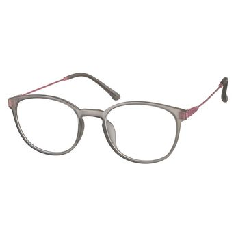 6e939474fc0 Zenni Womens Round Prescription Eyeglasses Gray Mixed Materials 7817712