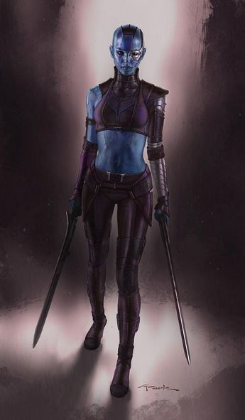 Alternate Nebula Costume Design for GUARDIANS OF THE GALAXY