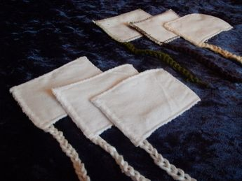 Natural Reusable Cloth Tampons Set of 10 by TheModestMaiden, $25.00
