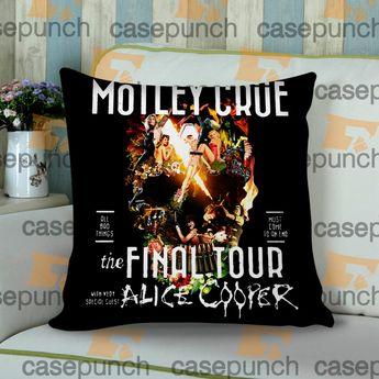 b5391a8df3f Sr5-motley Crue Final Tour All Bad Things Cushion Pillow Case