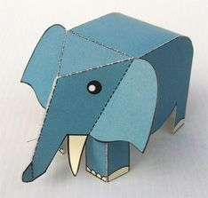 paper toy elephant