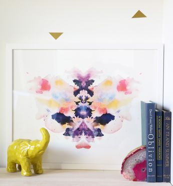 Style It - Using Large Art Pieces in The Built-Ins
