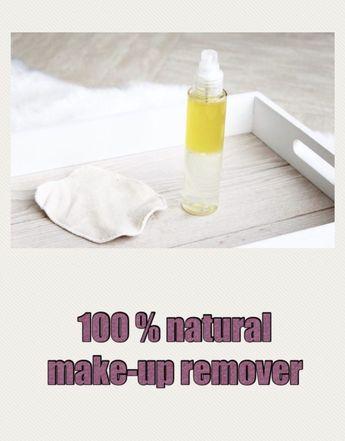 100% natural homemade make-up remover