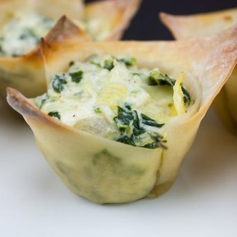 Fast and Easy Spinach Artichoke Cups