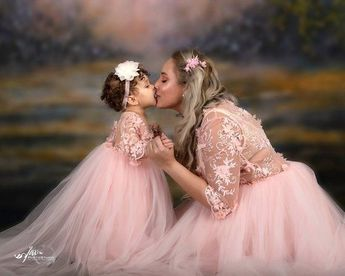Mother Daughter matching dress, Dresses for first birthday, Mommy and me outfits,  Light pink dress,  Photo shoot, Photo session maxi dress