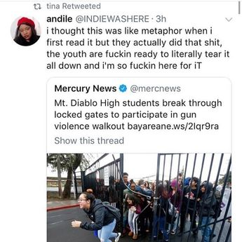 Omg... locking kids in school...like they are prisoners.... the United States is becoming more and more like a dystopian dictatorship...