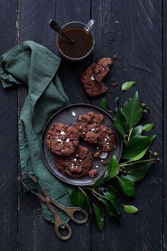 Cookies tout chocolat à la fleur de sel