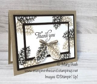 Stampin' in the Sand: Card: Double Time Painted Seasons Thank You